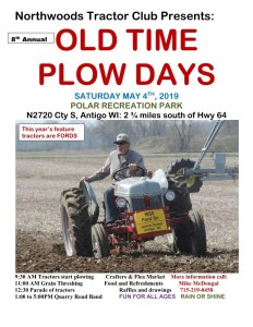 WI - Old Time Plow Days @ Polar Recreation Park