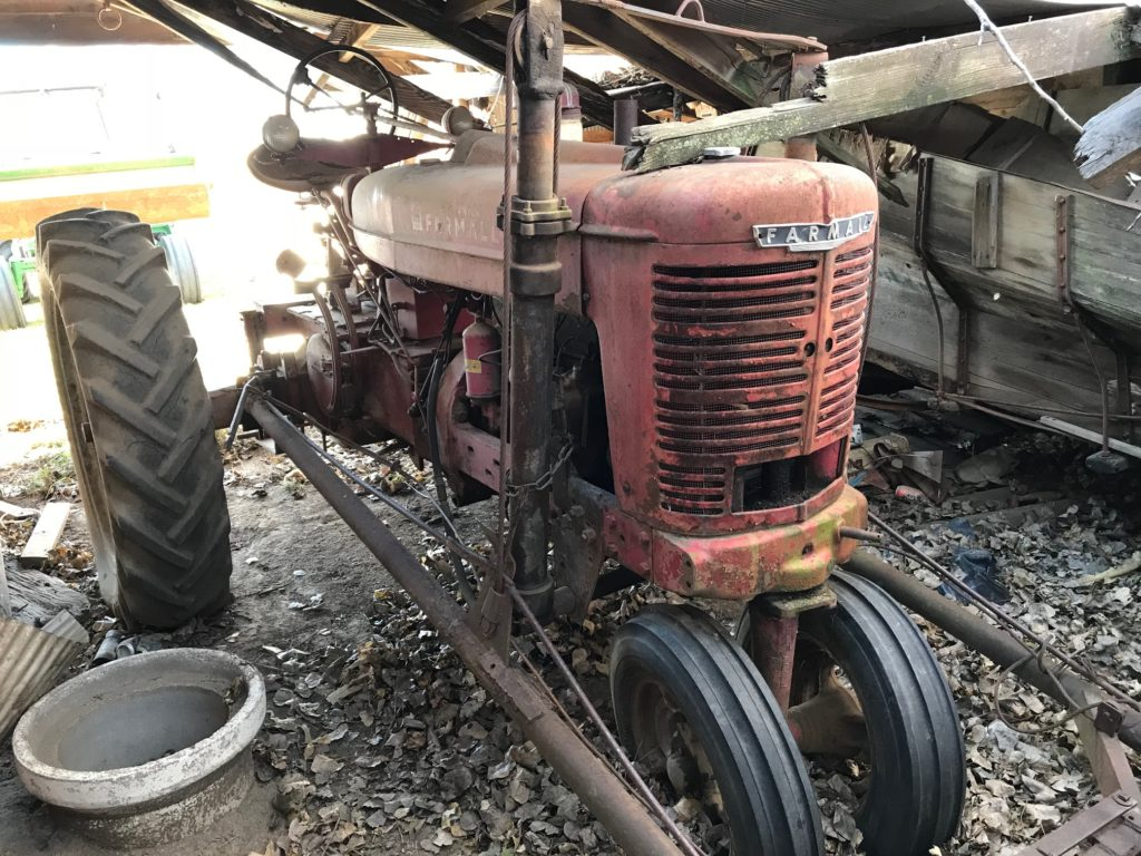 hight resolution of before during restored farmall