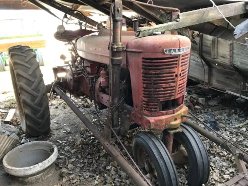 small resolution of before during restored farmall