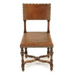 Sturdy Kitchen Chairs Rattan Garden Only Uk Antique French Walnut & Leather Fa-1136 | Warehouse