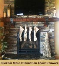 Fireplace Mantels and Rustic Mantel Shelves - Antique ...