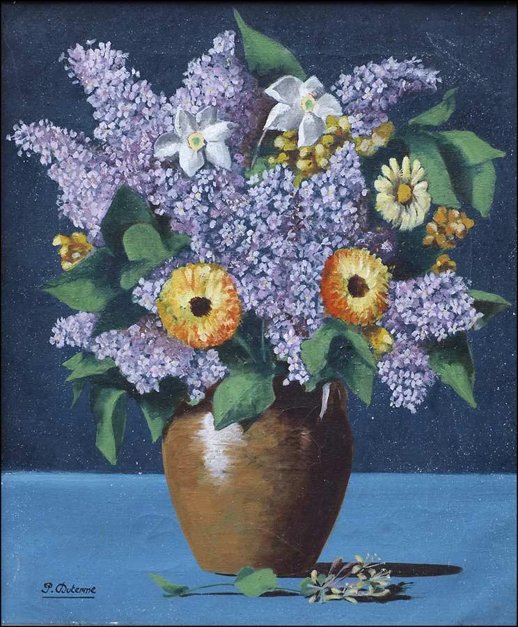 Nature morte bouquet de fleurs