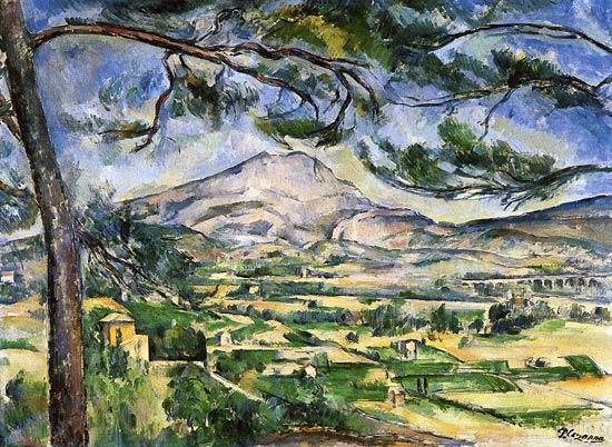 Paul cézanne La montagne Sainte-Victoire au grand pin
