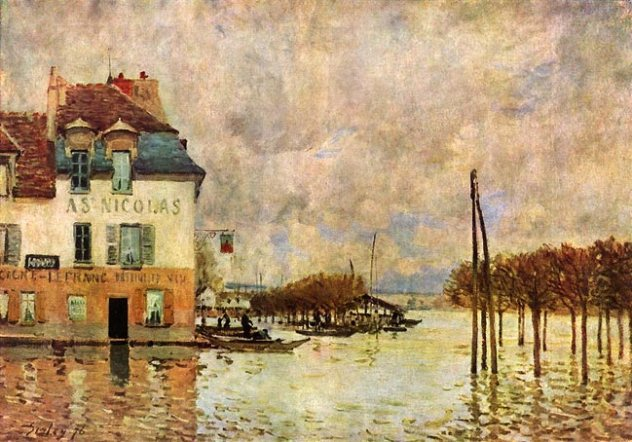 Alfred Sisley l'inondation à port Marly