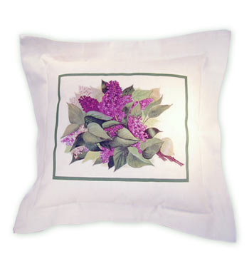 Lilacs Linen Pillow