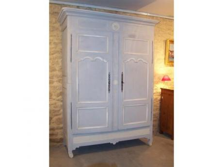 Armoire Patine Gris Bleu Style Rgence