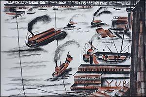 Gravure affiche Lithographie de Réno