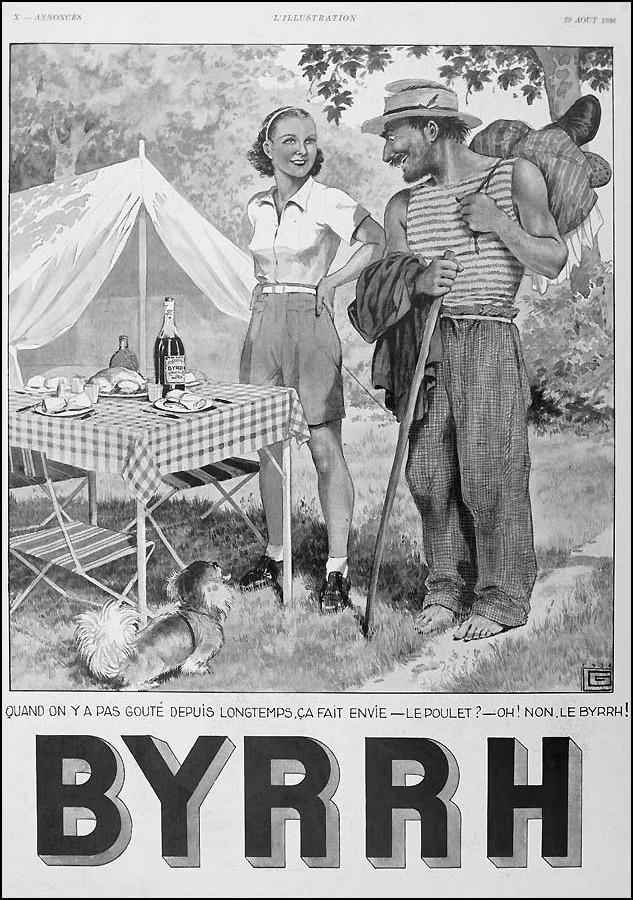 Affiche publicitaire Byrrh