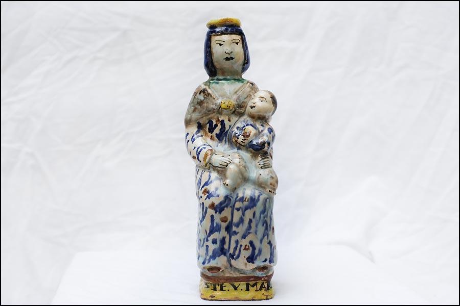 Antiquités Calvados : antique vierge accouchée XVIIIème siècle