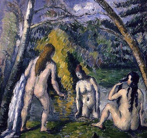Les trois baigneuses Paul Cezanne