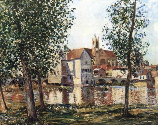Alfred Sisley. Moret-sur-Loing au soleil levant