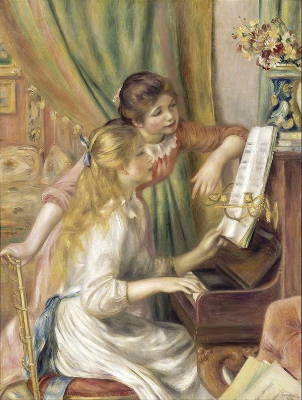 Auguste Renoir la jeune fille au piano