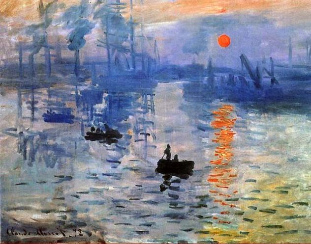 peintres impressionnistes Claude Monet, Impression Soleil Levant