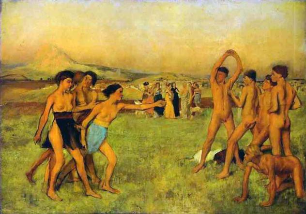 Degas jeunes spartiates à l'exercice