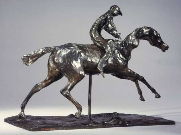 edgar degas sculpture cheval galopant
