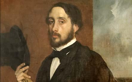 Edgar Degas saluant avec un chapeau