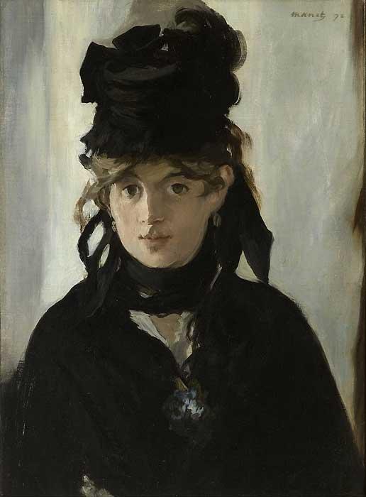 Edouard manet peint berthe morisot