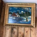 Cadre en bois et plâtre