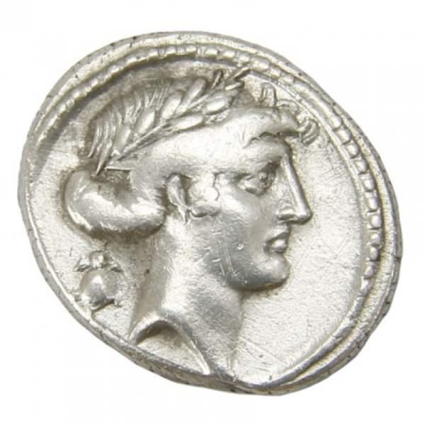 Q. Pomponius Musa Ar. denarius (66 BC)