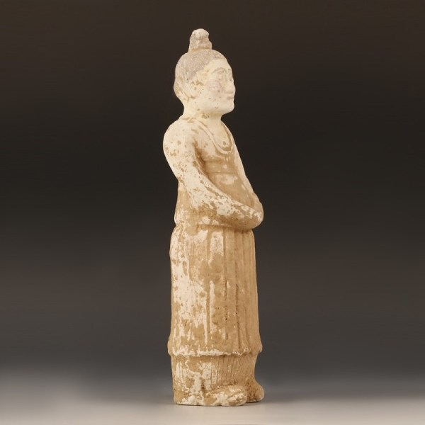 Ceramic Statuette Of A Court Attendant