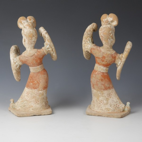 Pair of Tang Female Dancers