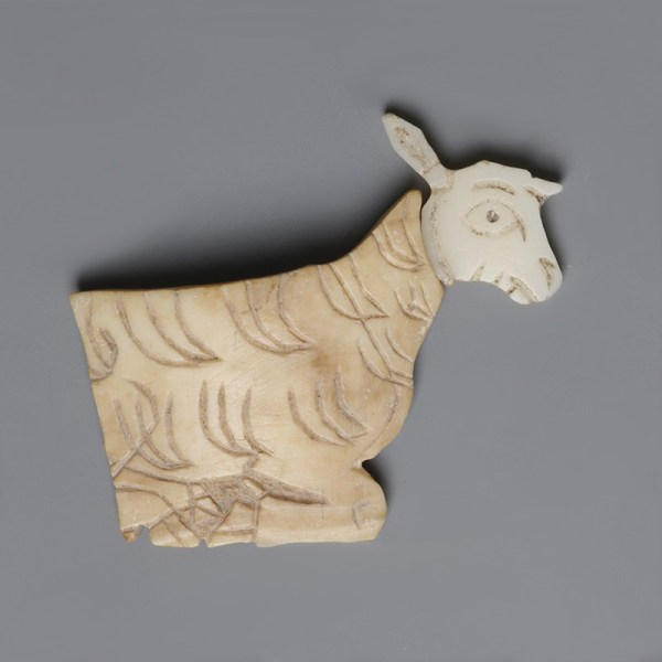 Sumerian Shell Plaque Sheep