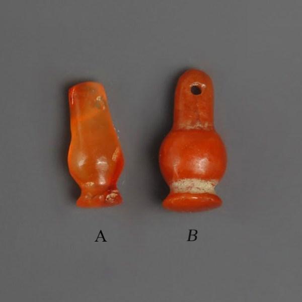 Egyptian New Kingdom Carnelian Poppy Amulets