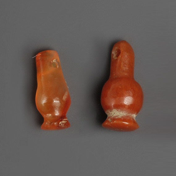 Egyptian New Kingdom Carnelian Poppy Amulets