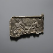Roman Lead Plaque With A Scene
