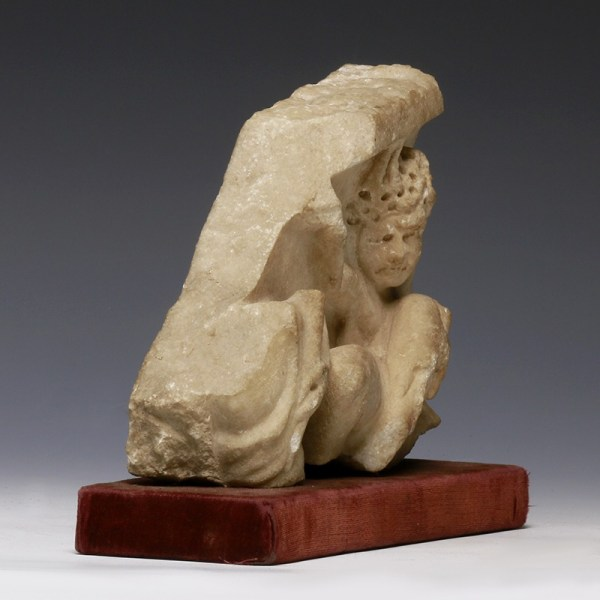 Provenanced Roman Marble Fragment with Satyr