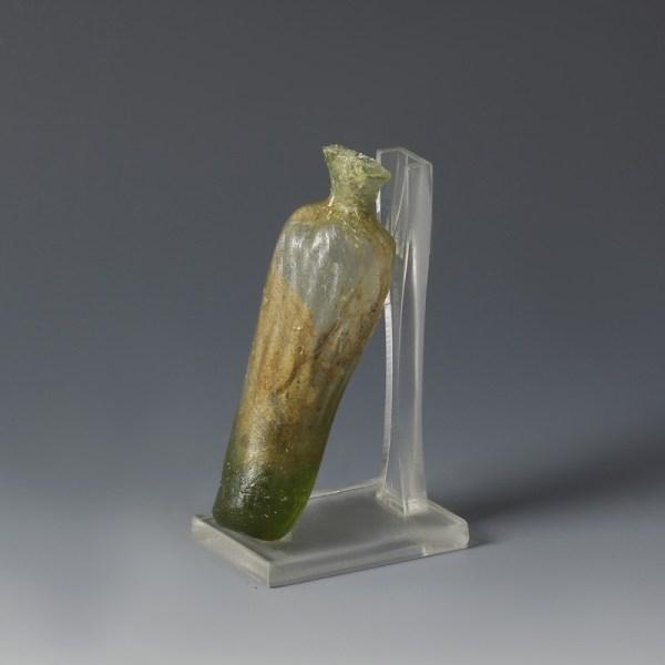 Roman Green Glass 'Date' Flask