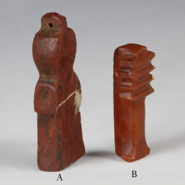 Egyptian Amulet Of The Tit And Djed Pillar