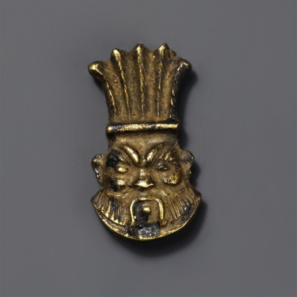 Egyptian Gold Bes Amulet