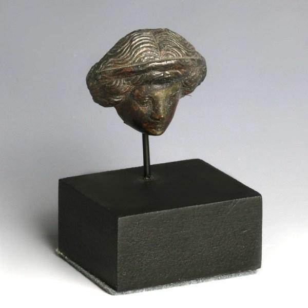 Hellenistic Bronze Head Of Persephone