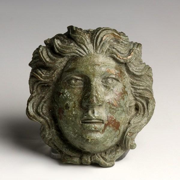 Superb Bronze Head of Medusa Appliqué