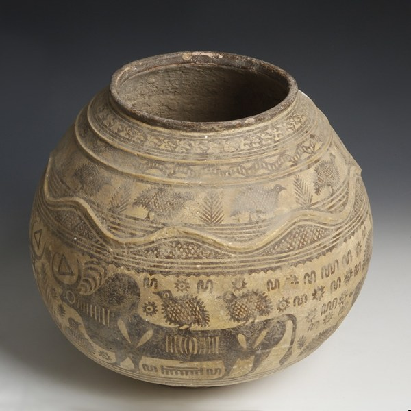 Large Indus Valley Decorated Vessel