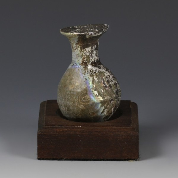 Roman Mould-Blown Glass Flask
