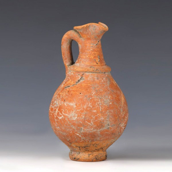 Terracotta Juglet with Trefoil Mouth