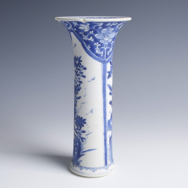Chinese Kangxi Blue and White Vase