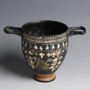 Gnathia Ware Decorated Skyphos