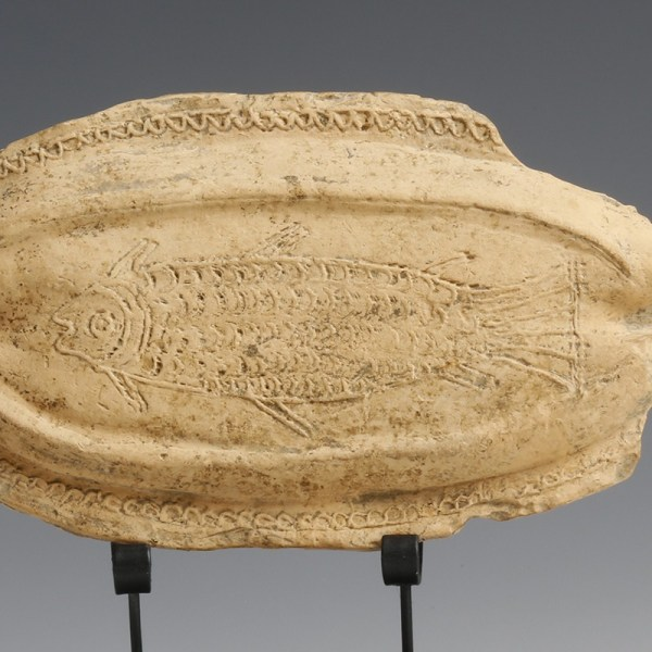 Rare Roman Terracotta Fish Plaque