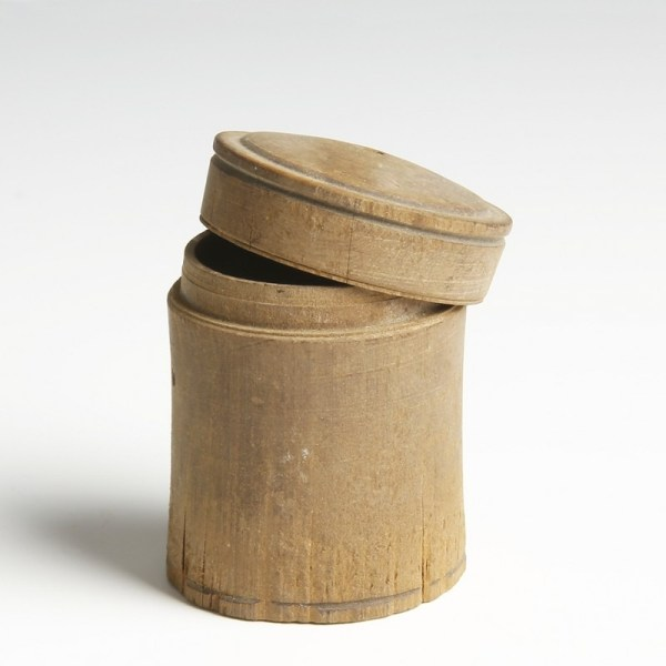 Rare Egyptian Wood Pyxis