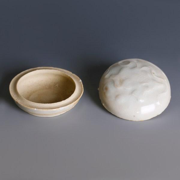 Tek Sing Small Circular White Glazed Box