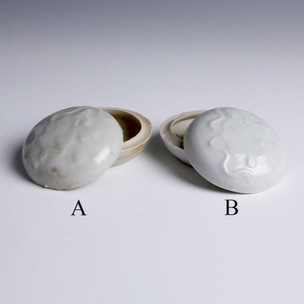 Tek Sing Small Circular White Glazed Boxes