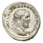 Ancient Roman silver antoninianus coin