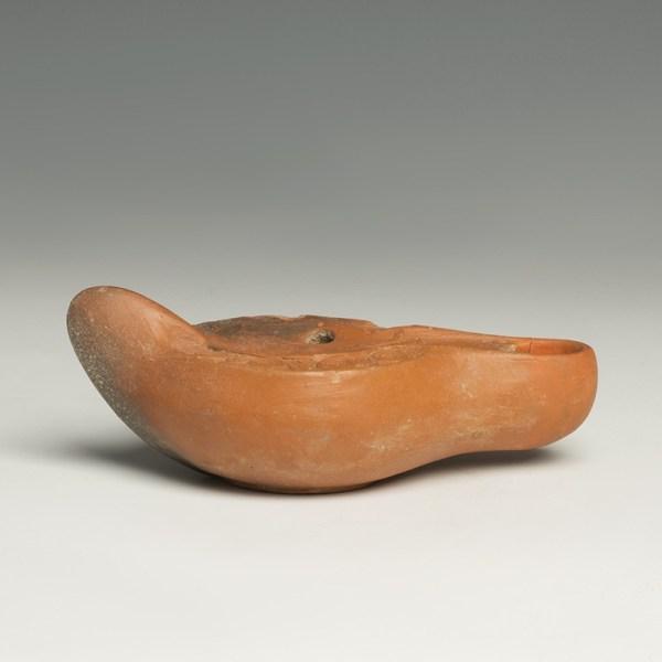 Provenanced Roman Redware Oil Lamp
