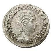 Ancient Roman silver drachm