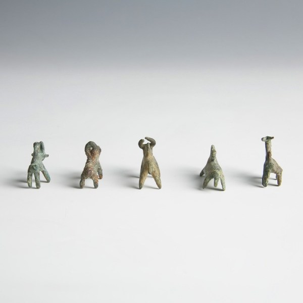 Luristan Bronze Animal Pendants