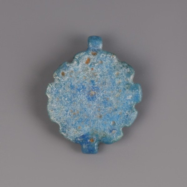 Egyptian Faience Daisy Amulet