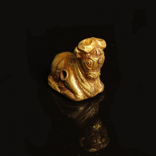 South Arabian Gold Bull Pendant